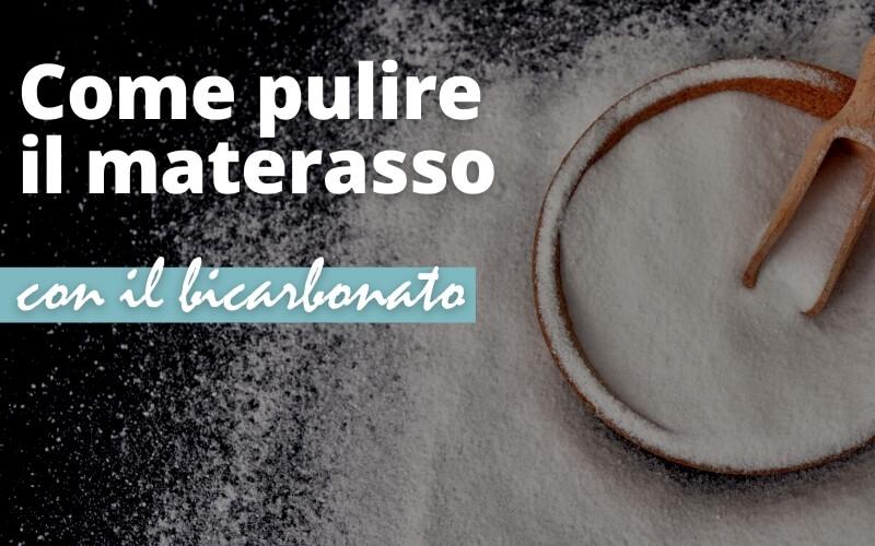 Pulizia del materasso con il bicarbonato