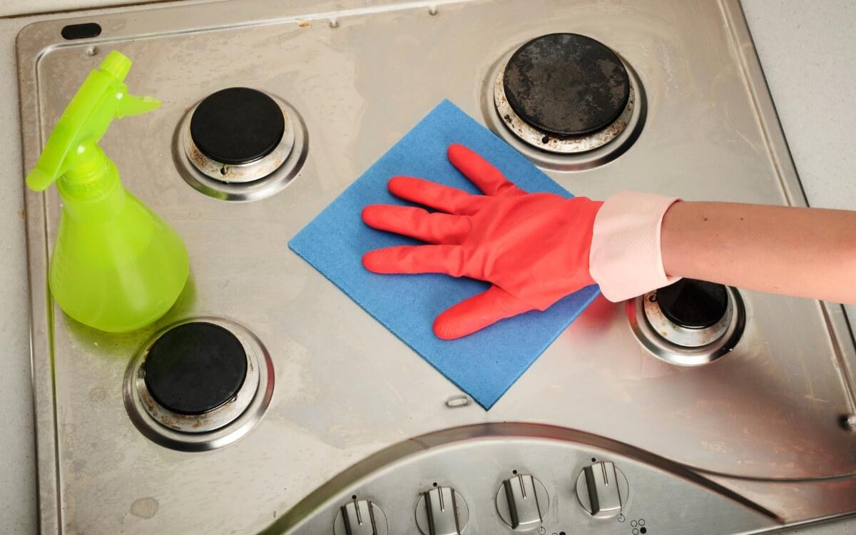 pulire cucina