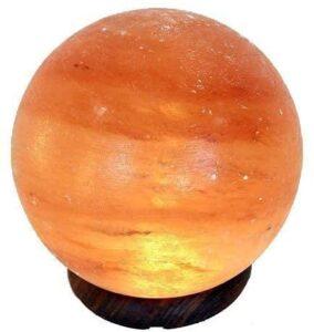 Lampada di sale a forma di sfera